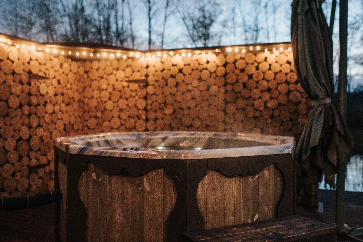 Hot tub in the dark
