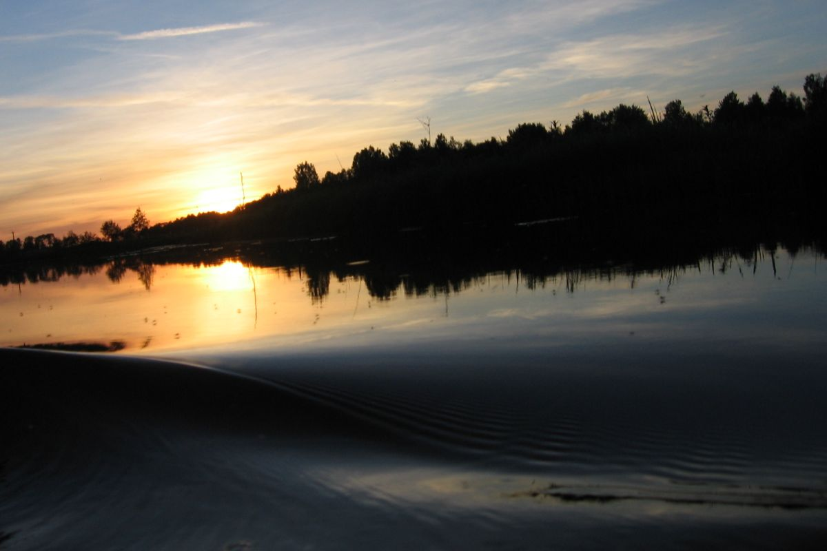 Sunset on the Vigala River